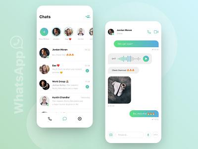 // WhatsApp // Redesign Concept rebrush ux ui ios messenger whatsapp redesign facelift digital concept clean app