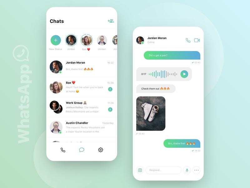 // WhatsApp // Redesign Concept