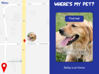 Daily UI #020 Location Tracker for Pets