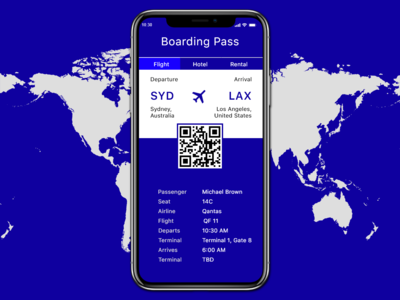 Daily UI #024 Boarding Pass