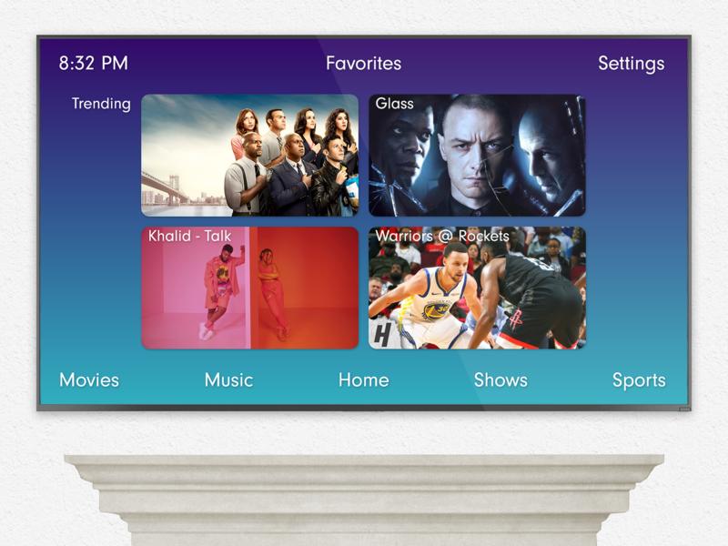 Daily UI #025 Smart TV App - Home Screen