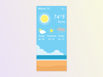 Daily UI #037 Weather App