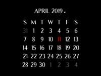 Daily UI #038 Calendar