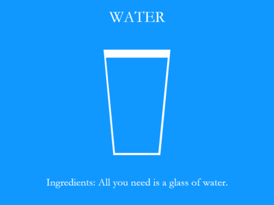 Daily UI #040 Recipe for Water