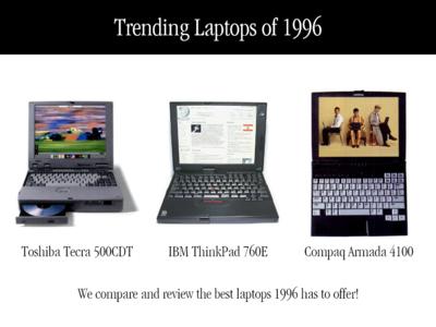 Daily UI #069 Trending - 1996 Laptop Trends