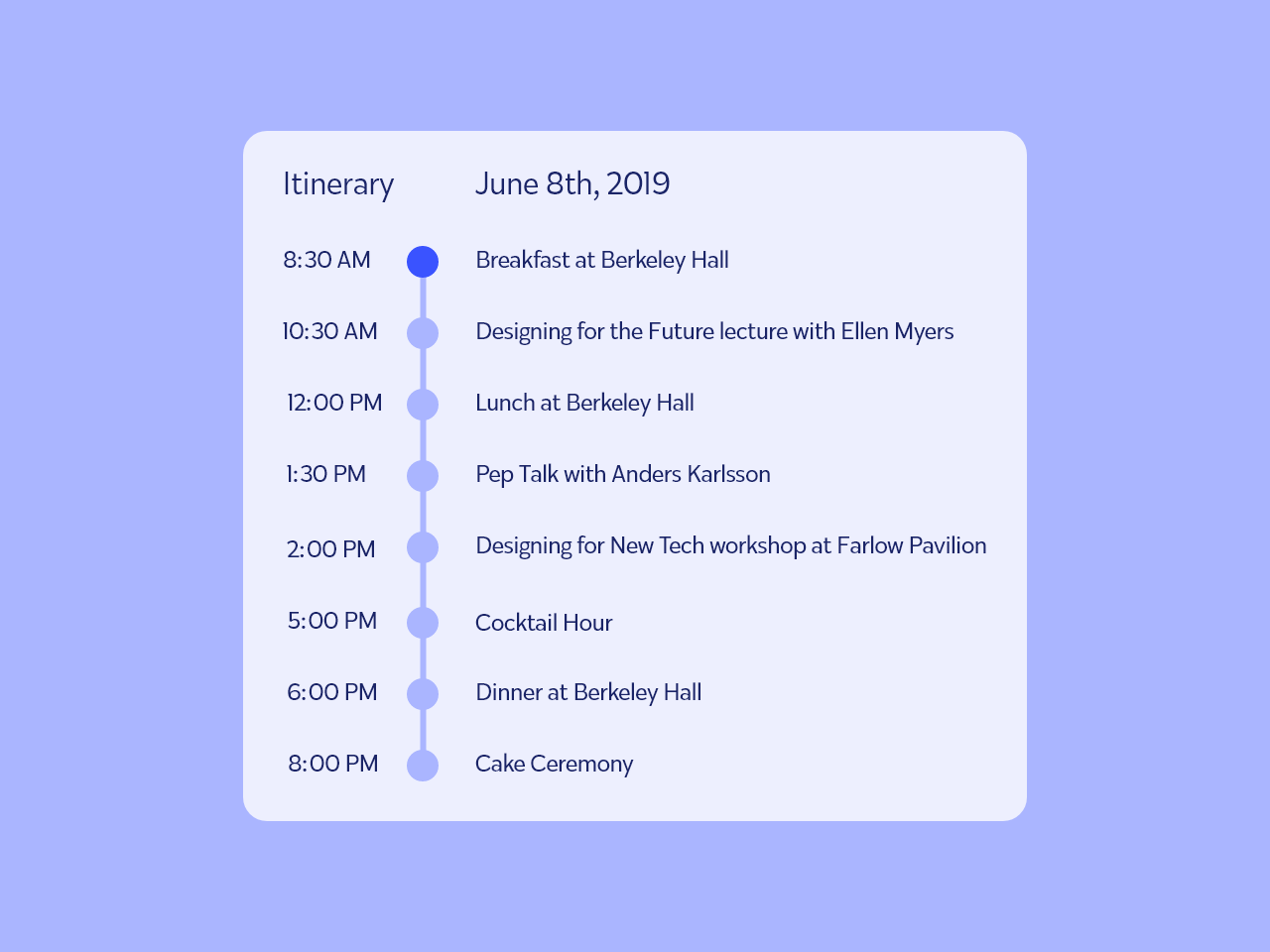 Daily UI #079 - Itinerary seminar 79 079 design convention design dailyui xd adobe xd plan plans planning planner itinerary