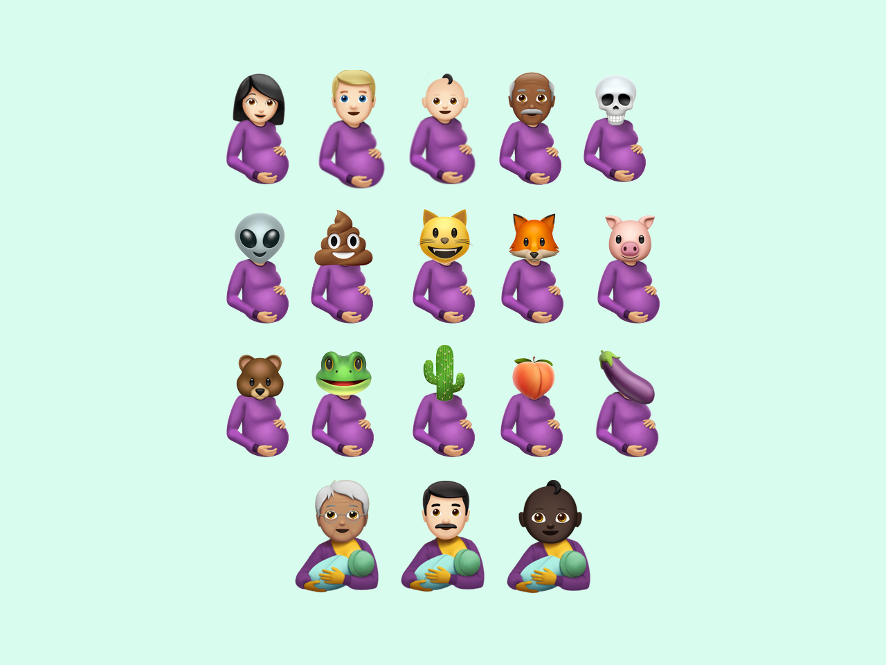 Emoji mashup that shouldn't exist pregnancy pregnant mashups emoji set mashup emojis emoji
