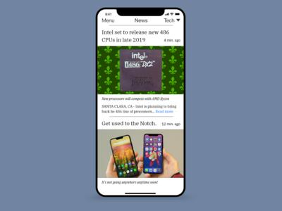 Daily UI #094 News