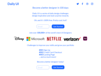 Daily UI #100 - Redesign Daily UI Landing Page
