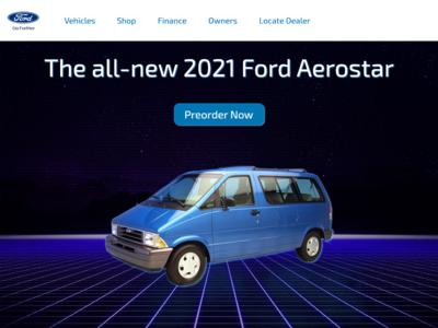 2021 Ford Aerostar Landing Page