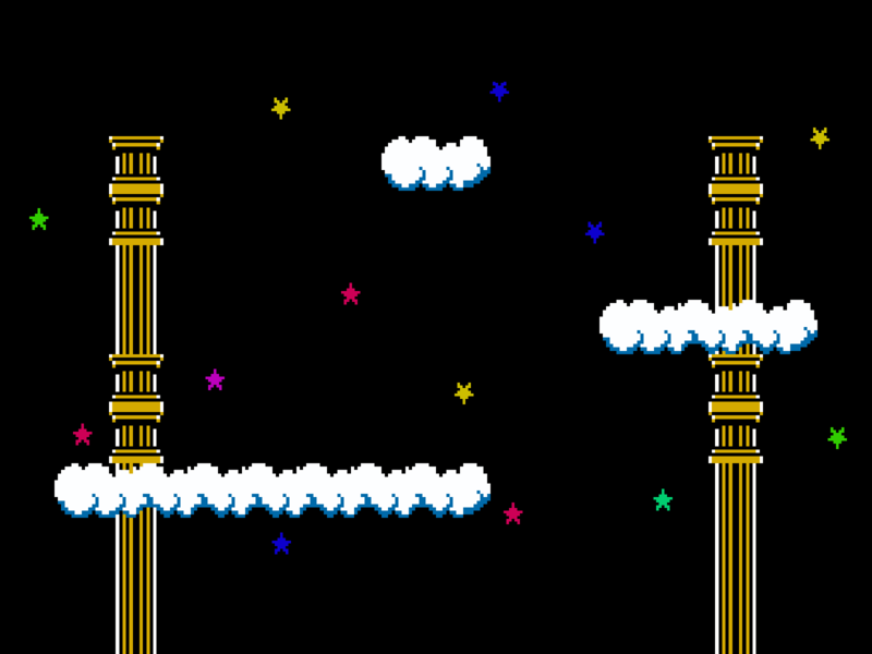 Palace in the Sky nintendo background wallpaper 8 bit icarus kid kid icarus sky palace