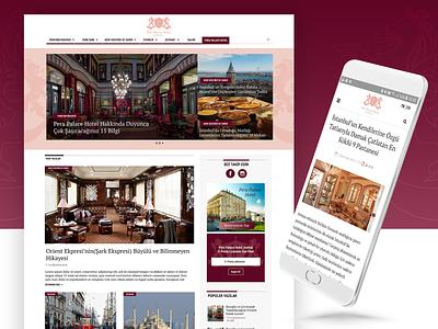 Pera Palace Hotel Blog landing page design layout ui desktop website concept mobile homepage uidesign website blog page blog web design webpage web pera pera palace hotel