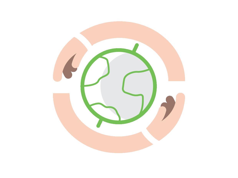Reach the World logo illustration graphic design flat design clean branding