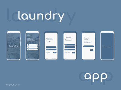 LaundryApp - Sign In/Sign Up password reset password grey signin sign in ui sign in sign up signup laundry laundry app ui mobile app mobile design app
