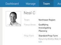 Team Profile Page