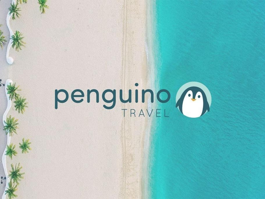Penguino Travel art direction illustration logo design