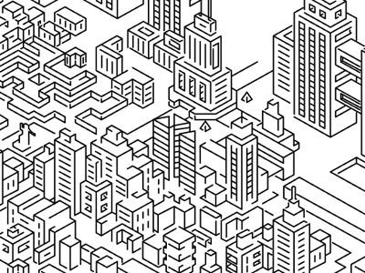 WIP - City city illustration vector