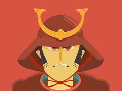 Samourais illustration vector
