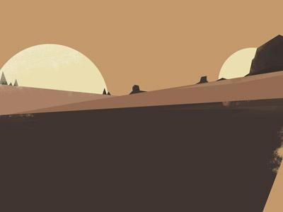 Brown Desert vector illustration