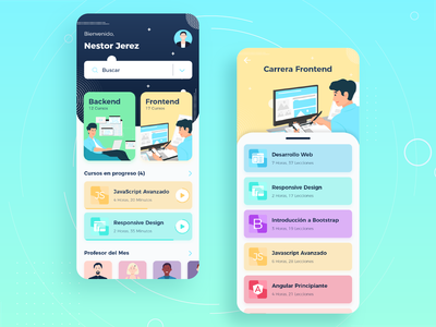 Programming E-Learning Courses Concept Free