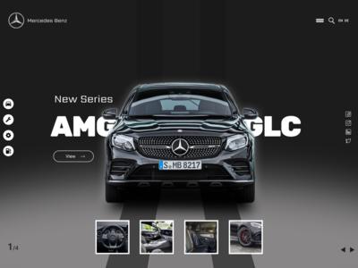 Mercedes Benz UIUX Landing page