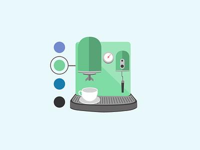 Espresso Icon isometric icon coffee espresso inographic