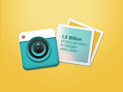 Blue Camera icon camera plastic infographic