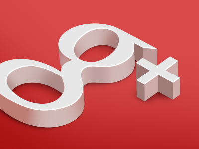 g+ 3d typography google