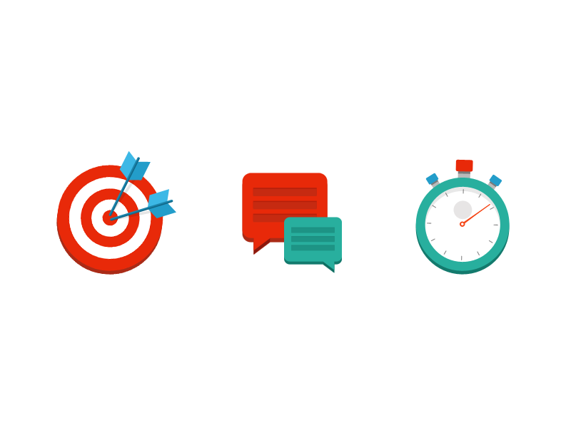 Performance Icons icons flat performance target arrows conversation stop watch time