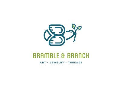 Bramble & Branch bramble b dove branch bird logo