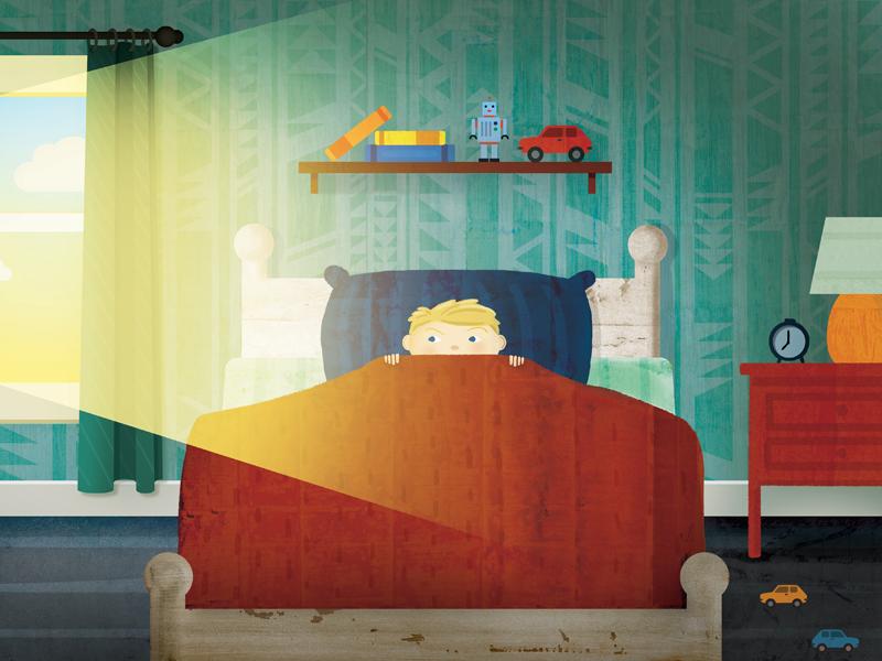 Wilson bedroom toys light illustration children kid book
