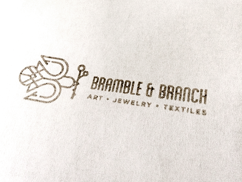 Bramble & Branch Stamp ink bramblebranch logo rubber stamp