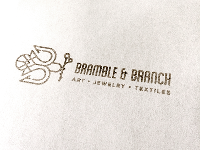 Bramble & Branch Stamp ink bramblebranch logo rubber stamp