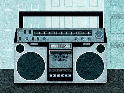 Boom Box music radio boom box illustration texture