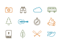 Youthcamp Icons