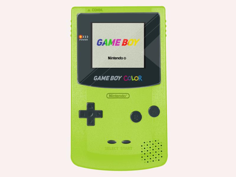 Game boy color illustration procreate gaming technology design gameboy illustration