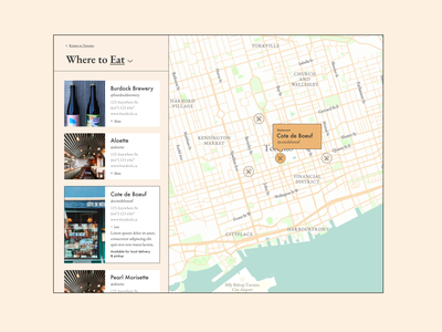 Print Collective | City guide map maps visual design web design ui