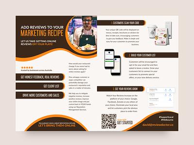 Flyer Design for Review Doctor marketing material layout layout design graphic design marketing flyer flyer design