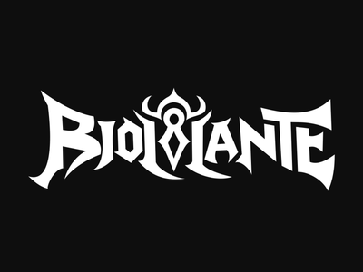 Logo Design and Typography for Biollante metal lettering typography branding logo