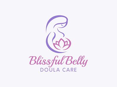 Logo Design for Blissful Belly Doula Care feminine doula pregnancy vector design logo design branding branding logo