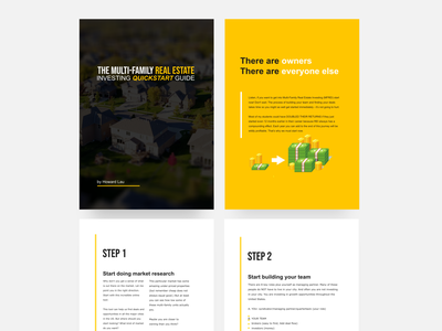 Design of eBook on Multi-Family Real Estate Investing investing layout design layout graphic design ebook layout ebook design ebook