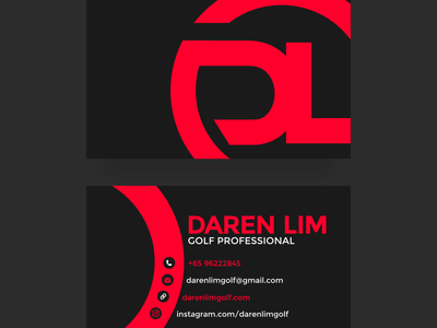 Business Card Design for Daren Lim namecard design namecard print design business card design business card graphic design design