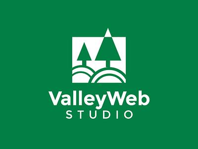 Logo Design for Valley Web Studio shapes geometric design geometric design logo design branding branding logo