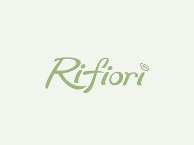 Logo Design for Rifiorì typographic lettering typography graphic design vector logo design branding design branding logo