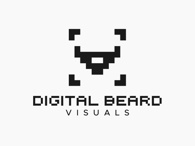 Logo Design for Digital Beard Visuals pixel bearded beard graphic design logo design branding vector design logo branding