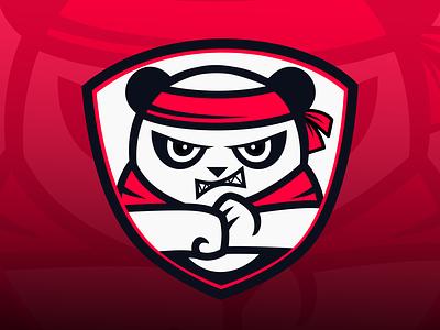 Logo Design for MomoRain twitch panda gaming cartoon graphic design logo design branding vector design logo branding