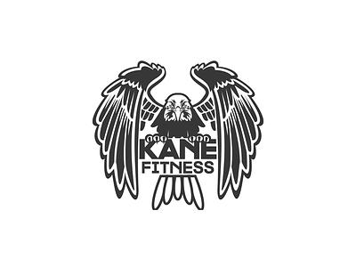 Kanefitness illustration flat vector logo design branding logo design branding