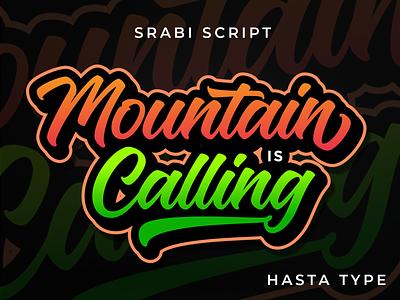 Mountain is Calling tshirt design logo script lettering font branding type design lettering typography logotype