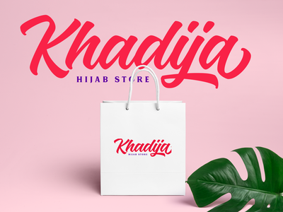 Khadija Logotype brush script script lettering hand lettering logo type design font lettering branding typography logotype