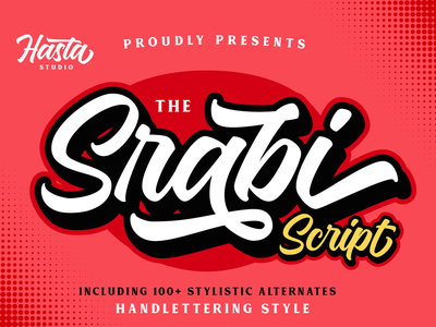 Srabi Script hand lettering display font script lettering type design branding script font font lettering typography logotype